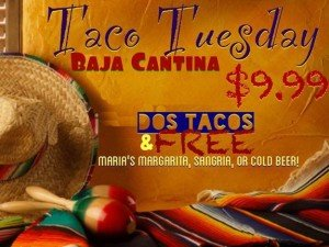 Sunday Funday, Taco Tuesday, and More Specials at Baja Cantina!