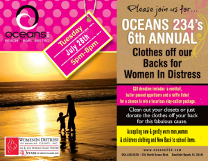 Oceans 234's 6th Annual Clothes Off Our Back for Women In Distress