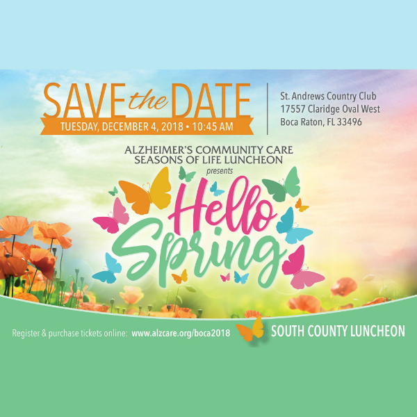 Annual 2018 Alzheimer's South County Luncheon St. Andrews Country Club