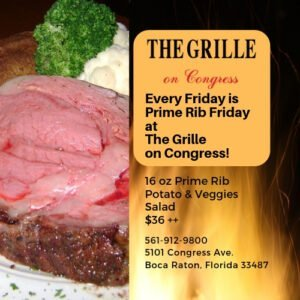 Prime Rib Friday at The Grille on Congress!