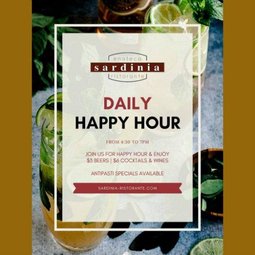 Daily Happy Hour at Sardinia Delray Beach
