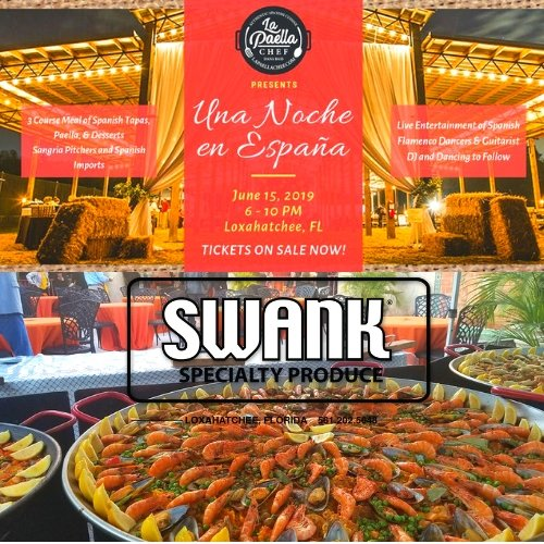 Spanish paella dinner at Swank Speciality Produce hosted by Chef Dana Brass