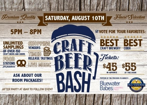 Fifth Annual Craft Beer Bash at PGA National Saturday, August 10