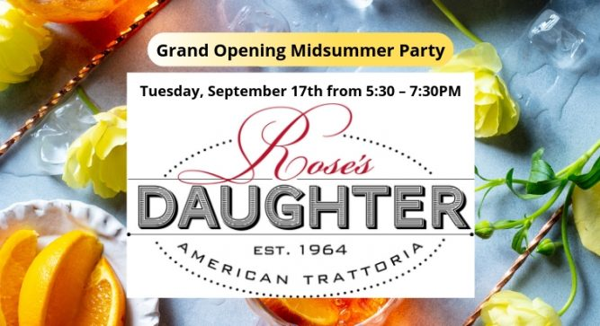 Grand Opening Midsummer Party at Rose's Daughter To Benefit The Delray Beach Public Library