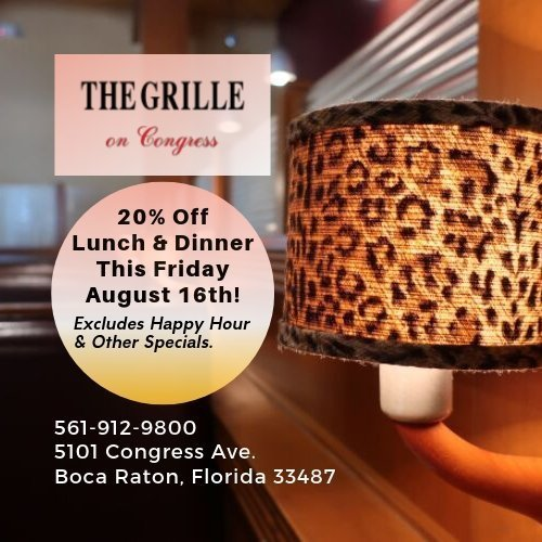 20% Off at The Grille On Congress