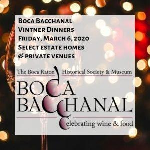 Boca Bacchanal Vintner Dinners