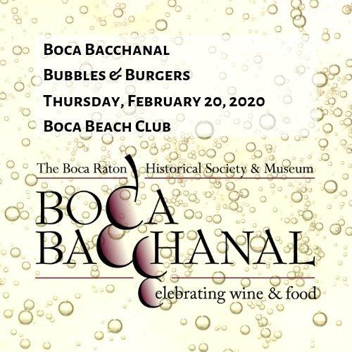 Boca Bacchanal Bubbles & Burgers