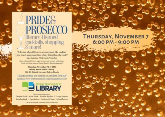 Pride & Prosecco at Delray Beach Public Library, Thursday, November 7, 2019
