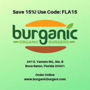 Save 15% Burganic Restaurant, Boca Raton
