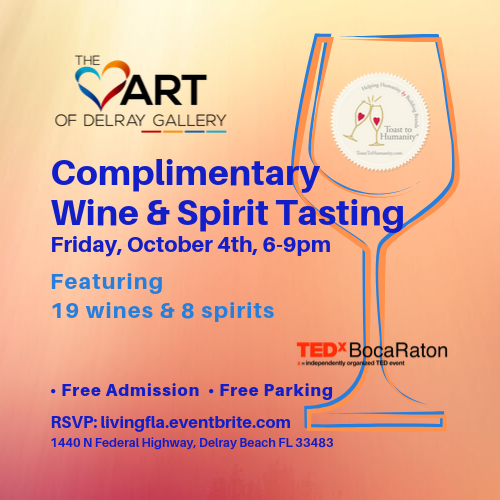 Complimentary Wine & Spirit Tasting the Heart of Delray Gallery