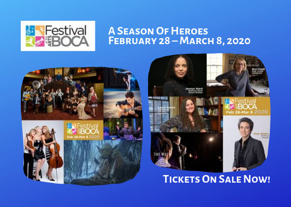 Festival Of The Arts BOCA Announces A Season Of Heroes- February 28 – March 8, 2020