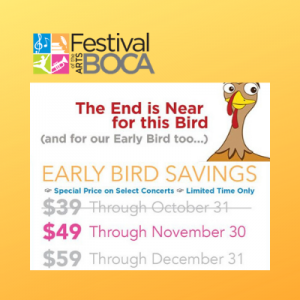 Discount Tickets - Festival Of The Arts BOCA