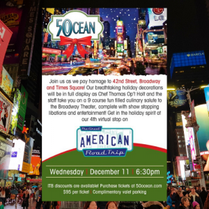 50 Ocean - 42nd Street, Broadway, and Times Square Holiday Dinner & Party