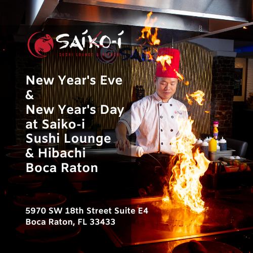 New Year's Eve and New Year's Day at Saiko-i Sushi Lounge & Hibachi