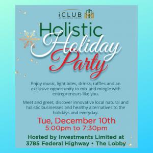 iClub's Holistic Holiday Party, Boca Raton