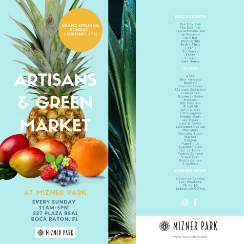 Mizner Park Sunday Florida Fresh Market