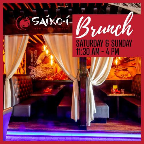 Brunch at Saiko-i Sushi Lounge Hibachi