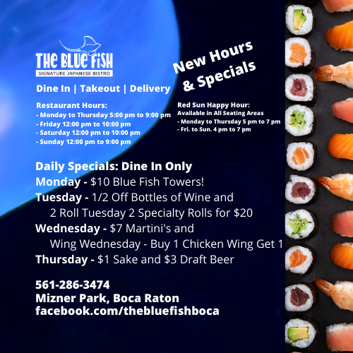 The Blue Fish Boca Raton - Dine In, Pickup & Delivery
