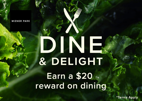 $20 Reward Card From Mizner Park Boca Raton - Dine Delight