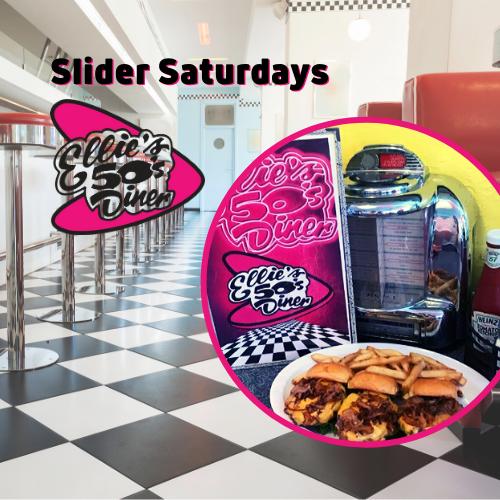 Slider Saturdays at Ellie's 50's Diner in Delray Beach