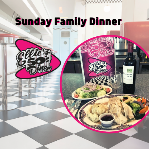 Sunday Family Dinner at Ellie's 50's Diner in Delray Beach