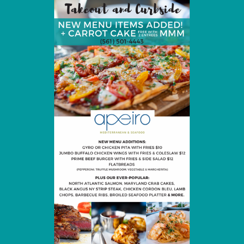 Apeiro Restaurant Is Back for Take-out/Curbside