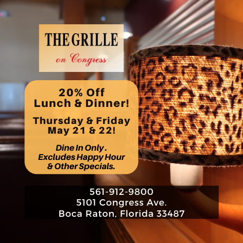 20% Off Lunch & Dinner at The Grille On Congress