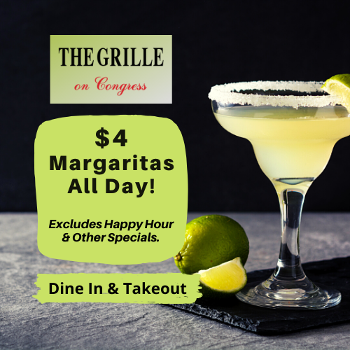 $4 Margaritas All Day at The Grille On Congress Boca Raton!⁠