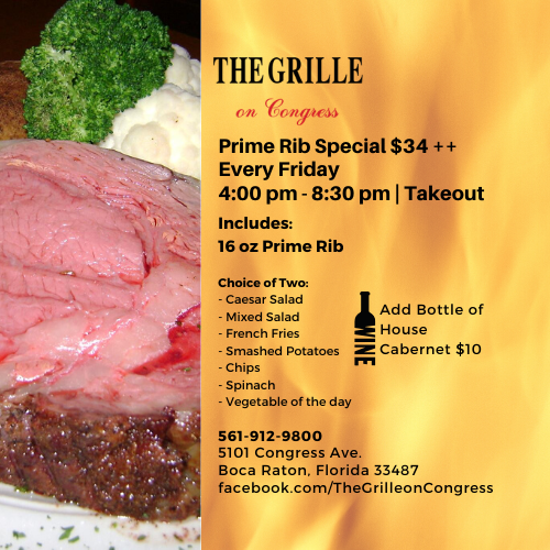 Prime Rib Friday Special at The Grille On Congress