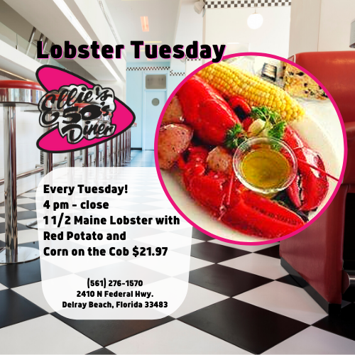 Lobster Tuesday Special at Ellie's 50s Diner