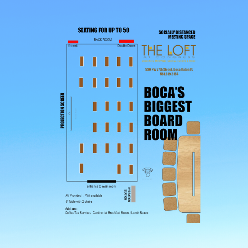 Bocas Biggest Boardroom at The Loft at Congress