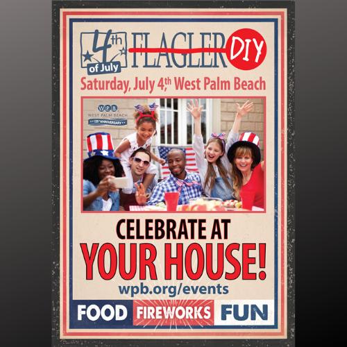 4th on Flagler Fireworks - Secret Location TBA