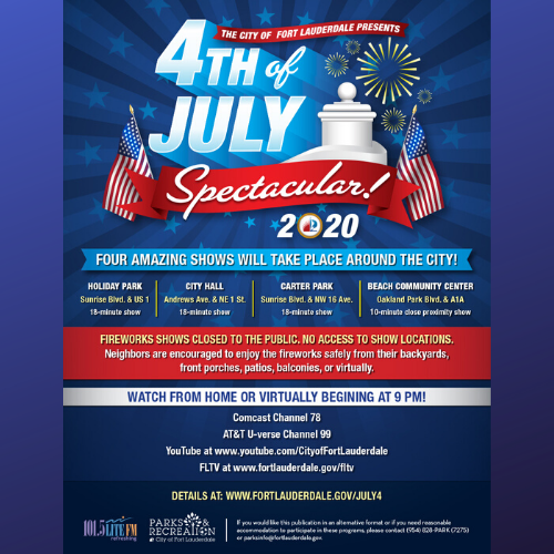 Fort Lauderdale's July 4th Celebration to Feature Fireworks Around the City