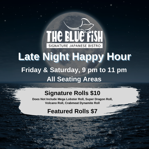 Late Night Happy Hour at The Blue Fish Mizner Park