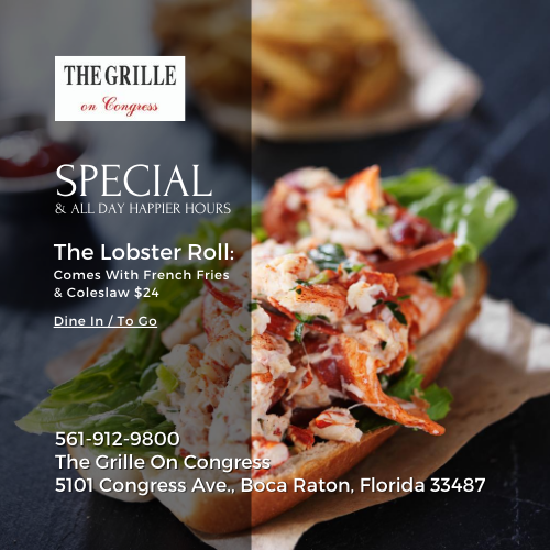 The Lobster Roll Special at The Grille On Congress