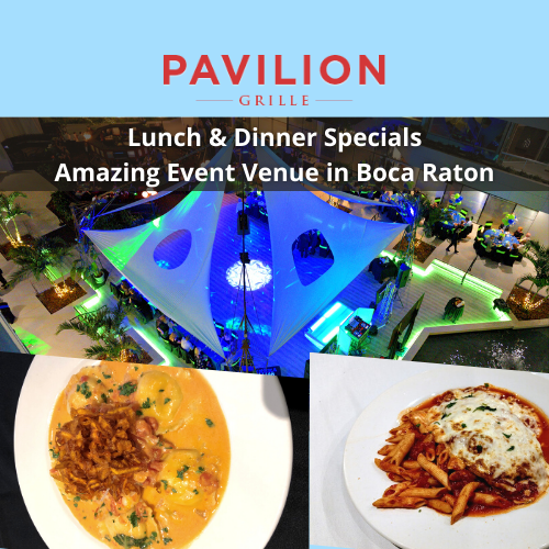 Lunch and Dinner The Pavilion Grille Restaurant & Event Venue