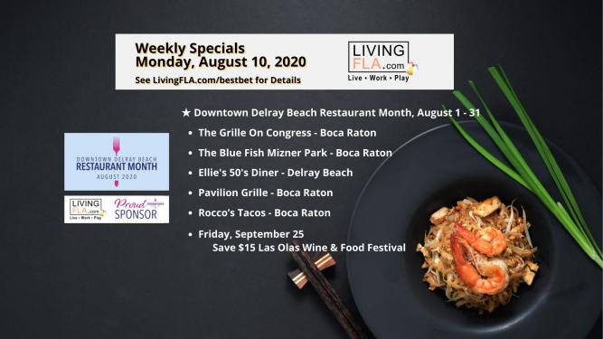 LivingFLA Restaurant Specials For Week of August 10