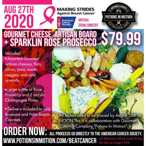 "Gourmet Cheese Board for ACS ""Making Strides Against Breast Cancer"" Virtual ZOOM Concert"