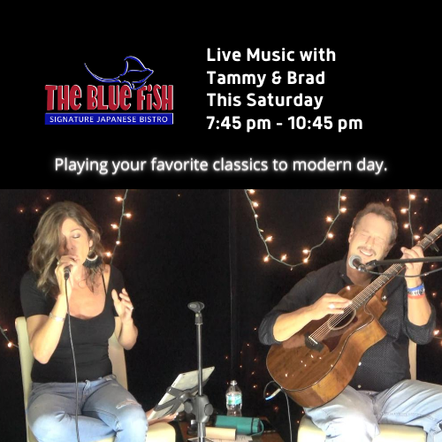 Live Music at The Blue Fish Mizner Park with Tammy & Brad!