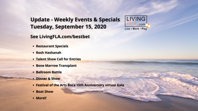 LivingFLA Events and Specials For Week of September 14