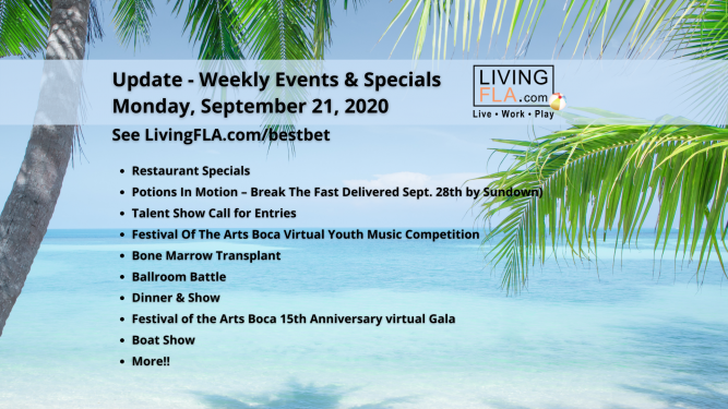 LivingFLA Events and Specials For Week of September 21