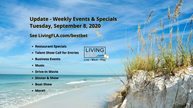 LivingFLA Events and Specials For Week of September 8th