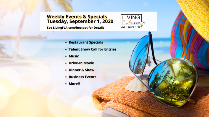 LivingFLA Events and Specials For Week of September 1st