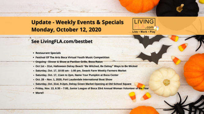 LivingFLA Events and Specials For Week of October 12
