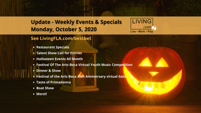 LivingFLA Events and Specials For Week of October 5