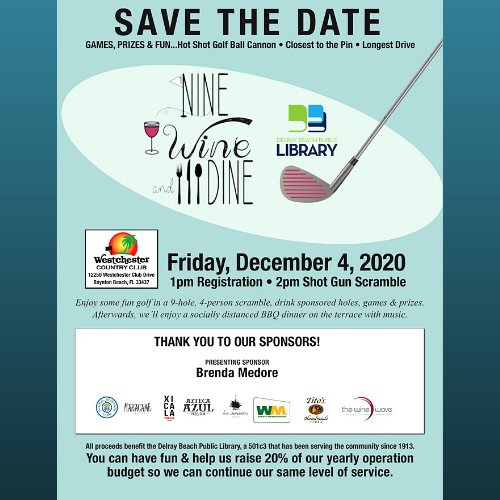 Nine & Dine & Wine - Delray Beach Public Library