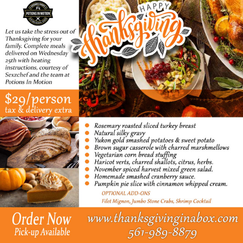 Order Thanksgiving Dinner from Potions In Motion