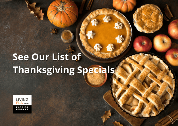 Thanksgiving Dinner Specials for Delivery, Dine In and Takeout.