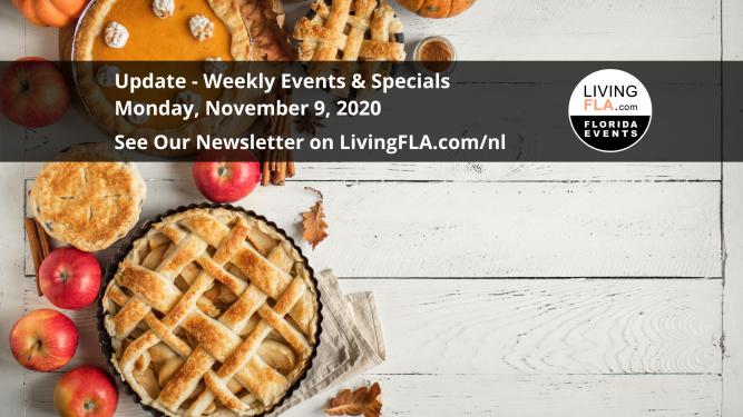 #LivingFLA Events Newsletter Week Of Nov. 9 2020