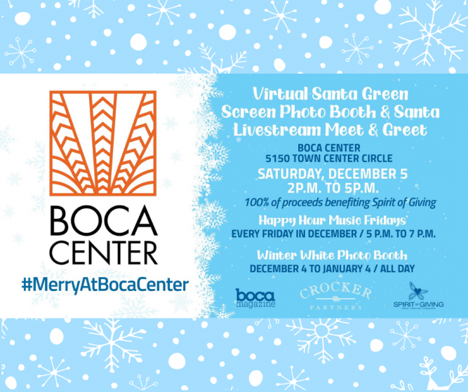Boca Center Holiday Events to Benefit Spirit of Giving